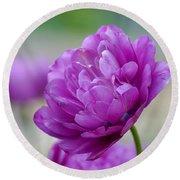 Lavender Tulip Round Beach Towel