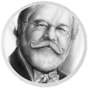 Lawyer Ty Cobb Round Beach Towel
