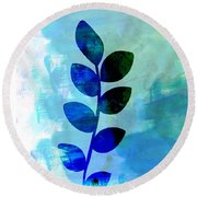 Leaf Watercolor Round Beach Towel