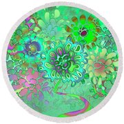 Round Beach Towel featuring the digital art Leaves Remix One by Vitaly Mishurovsky