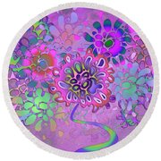 Round Beach Towel featuring the digital art Leaves Remix Three by Vitaly Mishurovsky