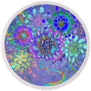 Round Beach Towel featuring the digital art Leaves Remix Two by Vitaly Mishurovsky