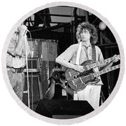 Led Zeppelin Jimmy Page Robert Plant  Round Beach Towel