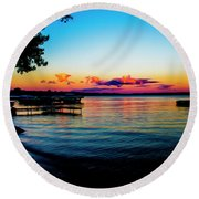 Leech Lake Round Beach Towel
