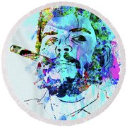 Legendary Che Watercolor Round Beach Towel