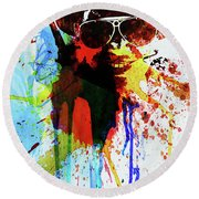 Legendary Fear And Loathing Watercolor Round Beach Towel