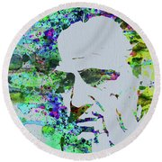 Legendary Godfather Watercolor Round Beach Towel