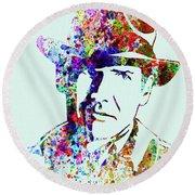 Legendary Indiana Jones Watercolor Round Beach Towel