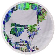Legendary Lenny Watercolor II Round Beach Towel
