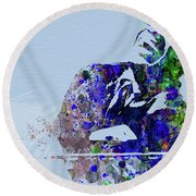 Legendary Ray Charles Watercolor Round Beach Towel
