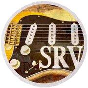 Lenny Stevie Ray Vaughans Guitar Round Beach Towel