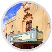 Lensic Performing Arts Center Round Beach Towel