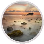 Malibu Sunset Round Beach Towel