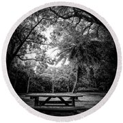 Let The Light In Round Beach Towel