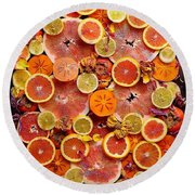Let The Winter Sun Shine In Round Beach Towel