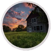 Round Beach Towel featuring the photograph Letters From Home by Aaron J Groen