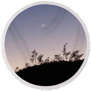 Libra Twilight Crescent Round Beach Towel
