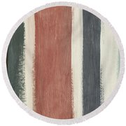 Library- Art By Linda Woods Round Beach Towel