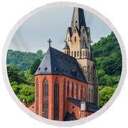 Liebfrauenkirche Oberwesel Round Beach Towel