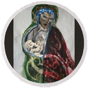 Life Gives And Life Takes Round Beach Towel
