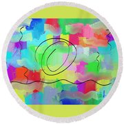 Sky And Sea Round Beach Towel
