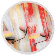 Light My Side Round Beach Towel