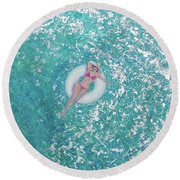 Lightness Of Being Round Beach Towel