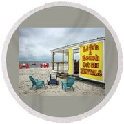 Round Beach Towel featuring the photograph Like's A Beach by Jim Mathis