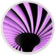 Lilac Fan Ceiling Round Beach Towel