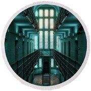 Lincoln Castle Prison In Blue Round Beach Towel