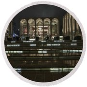 Lincoln Center For The Performing Arts Round Beach Towel