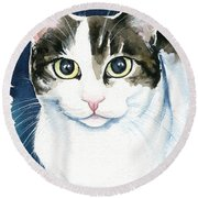 Lindy Cat Painting Round Beach Towel