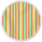Lines Or Stripes Vintage Or Retro Color Background - Dde589 Round Beach Towel