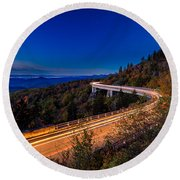Linn Cove Viaduct - Blue Ridge Parkway Round Beach Towel
