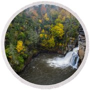 Linville Falls - Linville Gorge Round Beach Towel