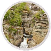 Linville Falls - Vertical Round Beach Towel