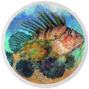 Lionfish Round Beach Towel