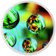 Liquid Lenses Round Beach Towel