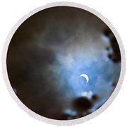 Liquified Solar Eclipse Round Beach Towel