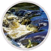 Little Bitty Waterfall Round Beach Towel