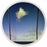 Little Cloud Round Beach Towel