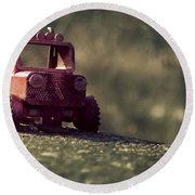 Little Engine That Could Round Beach Towel