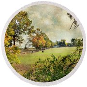 Little Timber Ranch Berlin New Jersey Round Beach Towel