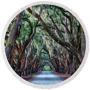 Live Oaks Spanish Moss Hilton Head Island South Carolina Round Beach Towel