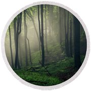 Living Forest Round Beach Towel