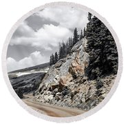 Round Beach Towel featuring the photograph Living On The Edge by Melissa Lane