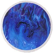Living Water Abstract Round Beach Towel