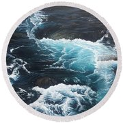Living Waters Round Beach Towel