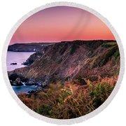 Lizard Point Sunset - Cornwall Round Beach Towel