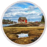 Lobster Shack Round Beach Towel